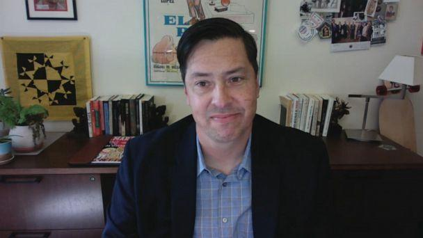 PHOTO: Stephen Pitti, founding director of Yale's Center for the Study of Race, Indigeneity and Transnational Migration, speaks with ABC News via videoconference on Sept. 14, 2020. (ABC News)