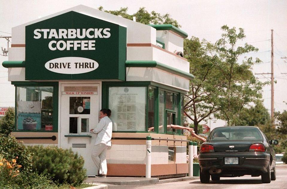 <p>In the early '90s, Starbucks realized there was a heavy demand for drive-thru restaurants, so they began testing this option in Southern California locations in 1994.</p>
