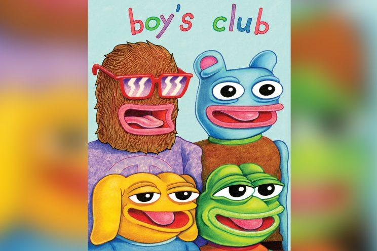 'Boys Club' cover featuring Pepe the Frog, by Matt Furie.