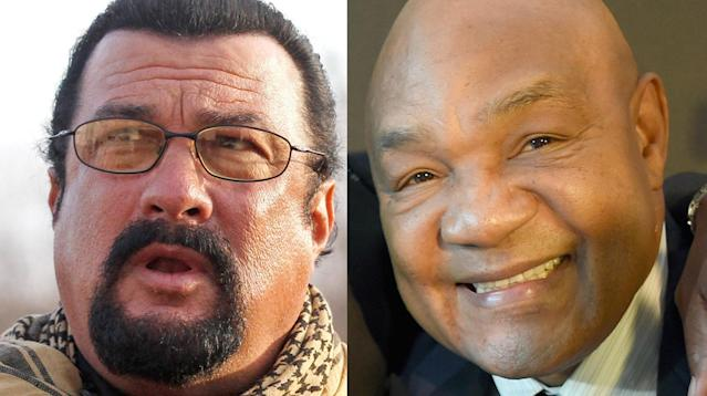 George Foreman wants to go the distance with Steven Seagal.