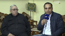 """In this still image made from video provided by the Dubai-based news channel al-Hadath, the father of the alleged Louvre attacker, Egyptian-born Abdullah Reda Refaie al-Hamahmy, 28, Reda Refae al-Hamahmy, left, gives an interview to al-Hadath, in his Nile Delta home, aired Saturday, Feb. 4, 2017, in which he said he was shocked to learn of his son's alleged involvement. """"All I want is to know the truth and find out whether he is dead or alive,"""" the father said. """"I am desperate to know whether he is dead or alive."""""""