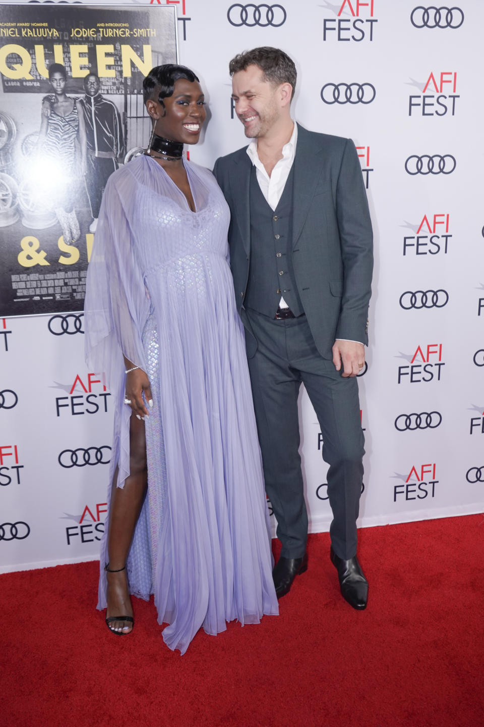 Jodie Turner-Smith and Joshua Jackson walks the red carpet for AFI's