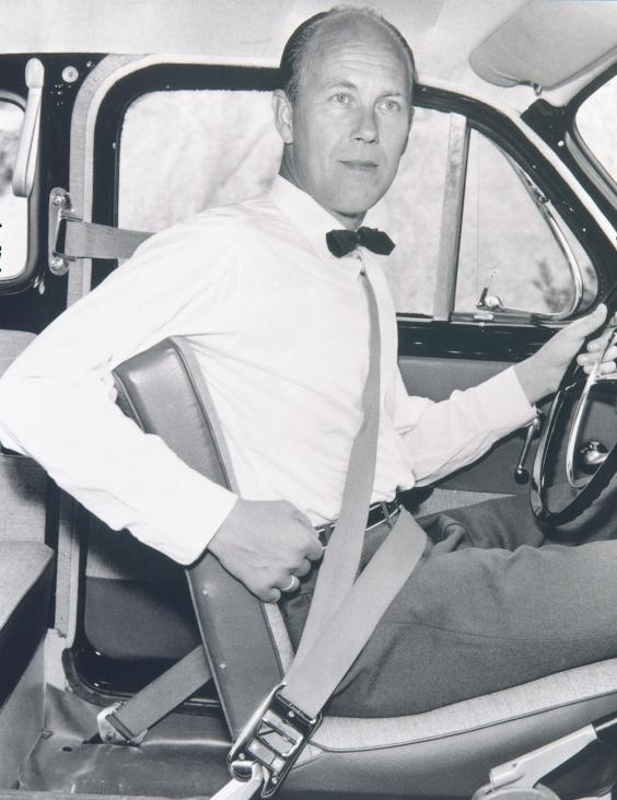 Nils Bohlin's invention is credited with saving more than a million lives (Volvo)