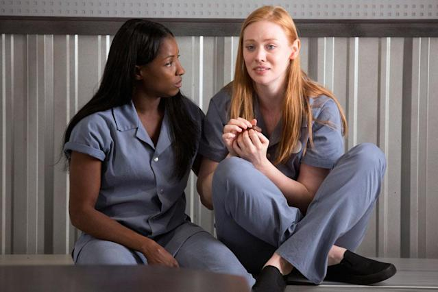 "Rutina Wesley and Deborah Ann Woll in the ""True Blood"" Season 6 episode, ""F--- the Pain Away."""