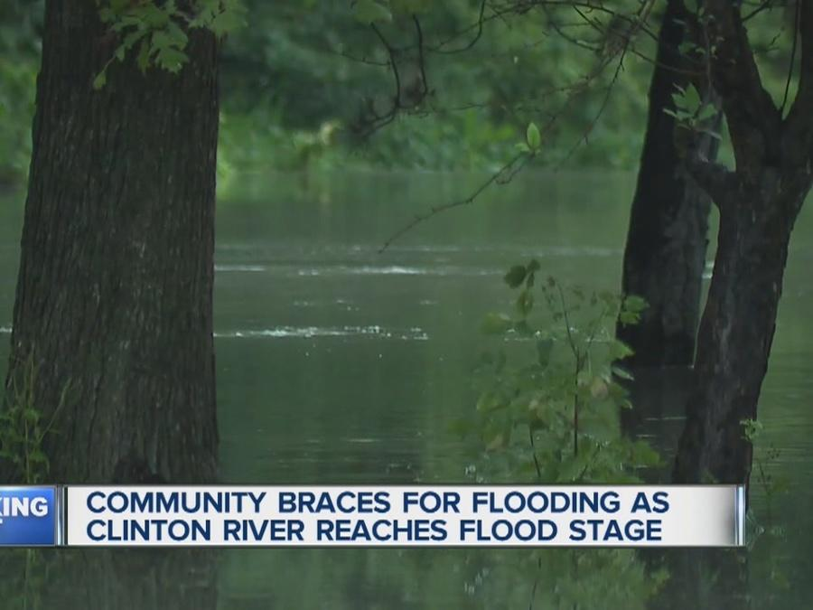 Neighbors living along the Clinton River in Clinton Township are worried about the rising waters.