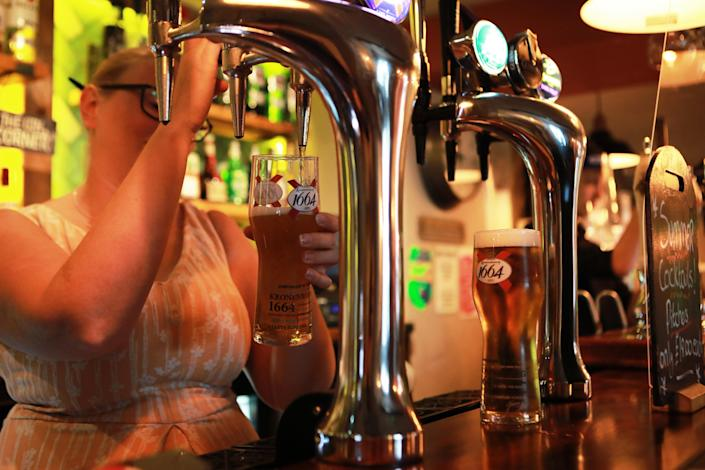 Brits were asked whether it was a good move to allow pubs to reopen. (PA)