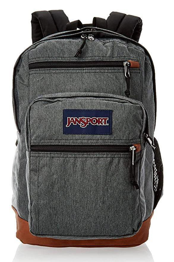 """<p><strong>JanSport</strong></p><p>amazon.com</p><p><strong>$55.00</strong></p><p><a href=""""https://www.amazon.com/dp/B07192Q1M4?tag=syn-yahoo-20&ascsubtag=%5Bartid%7C10055.g.27508273%5Bsrc%7Cyahoo-us"""" rel=""""nofollow noopener"""" target=""""_blank"""" data-ylk=""""slk:Shop Now"""" class=""""link rapid-noclick-resp"""">Shop Now</a></p><p>Similar to your favorite JanSport backpack from high school, this new model has a college makeover with a padded laptop sleeve. With over 5,000 Amazon reviews, this backpack is popular for having easy access front pockets and a durable leather bottom. To prevent shoulder pain, <strong>t</strong><strong>he back has a padded panel </strong>alongside the comfortable straps. </p>"""