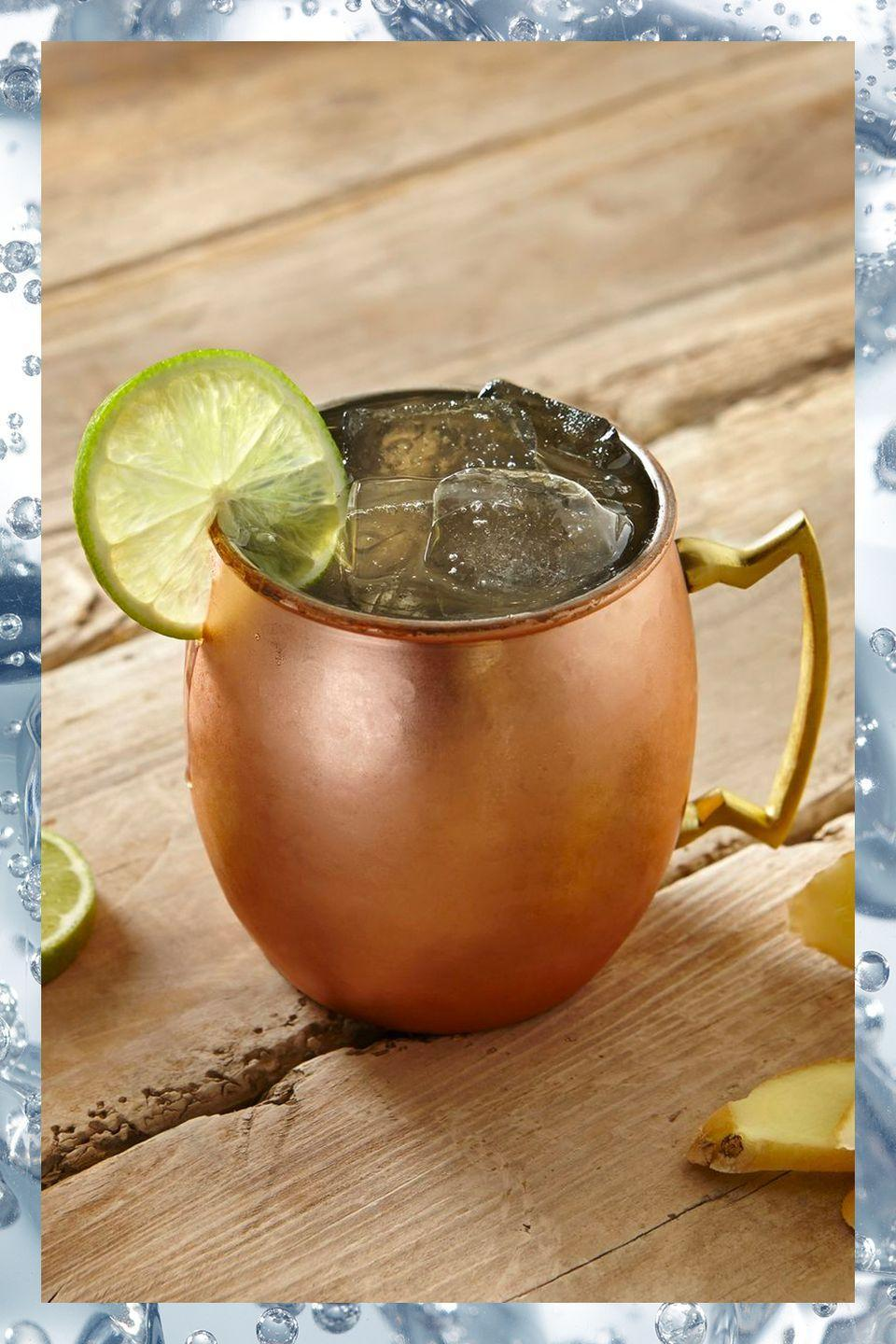 """<p>Popular for good reason, the Moscow Mule is one of the most refreshing things to sip on a hot summer day. Its suggested vessel, a copper mug, also just looks sharp.</p><p>- 2 oz vodka <br>- 4 to 6 oz ginger beer<br>- .5 oz lime juice</p><p><em>Squeeze lime juice into a <a href=""""https://www.amazon.com/Original-100-Pure-Copper-Mug/dp/B00R0BCR4E/?tag=syn-yahoo-20&ascsubtag=%5Bartid%7C10067.g.13092298%5Bsrc%7Cyahoo-us"""" rel=""""nofollow noopener"""" target=""""_blank"""" data-ylk=""""slk:Moscow Mule mug"""" class=""""link rapid-noclick-resp"""">Moscow Mule mug</a>. Add two or three ice cubes, pour in the vodka, and fill with cold ginger beer. Stir and serve.</em></p><p><strong>More:</strong> <a href=""""http://www.townandcountrymag.com/leisure/drinks/g3077/vodka-cocktails/"""" rel=""""nofollow noopener"""" target=""""_blank"""" data-ylk=""""slk:Essential Vodka Cocktails"""" class=""""link rapid-noclick-resp"""">Essential Vodka Cocktails</a></p>"""