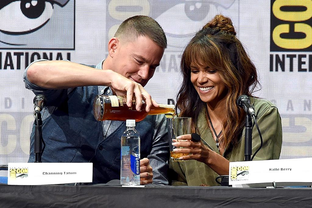 "<p>At the superfun fan fest known as <a rel=""nofollow"" href=""https://www.yahoo.com/movies/tagged/comic-con/"">Comic-Con</a>, Tatum poured a glass of booze for his co-star in the upcoming movie <i>Kingsman: The Golden Circle</i>. Berry must have approved of Tatum's bartending skills, because she downed the entire glass moments later! (Photo: Kevin Winter/Getty Images) </p>"
