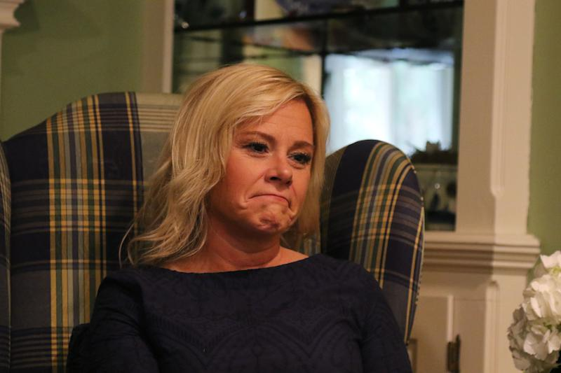 Bridget Anne Kelly being interviewed at her home two days before she is sentenced for her role in Bridgegate.