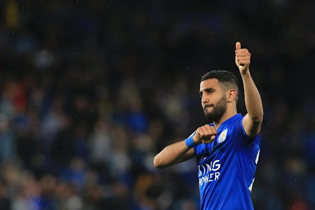 Mahrez scored 48 goals in 179 matches for Leicester (AFP Photo/Lindsey PARNABY)