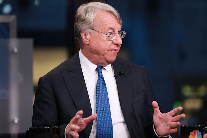 "SQUAWK BOX -- Pictured: James ""Jim"" Chanos, president and founder of Kynikos Associates, in an interview on September 9, 2015 -- (Photo by: David Orrell/CNBC/NBCU Photo Bank via Getty Images)"
