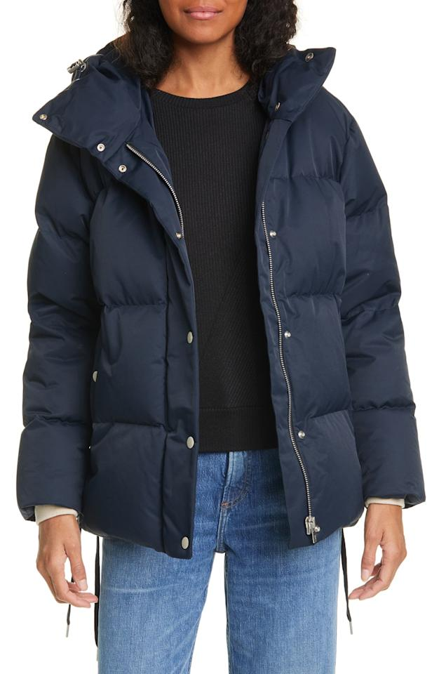 """<p>You can never go wrong with this cozy <a href=""""https://www.popsugar.com/buy/Rag-amp-Bone-Leonard-Down-Fill-Puffer-Jacket-544639?p_name=Rag%20%26amp%3B%20Bone%20Leonard%20Down%20Fill%20Puffer%20Jacket&retailer=shop.nordstrom.com&pid=544639&price=597&evar1=fab%3Aus&evar9=47159811&evar98=https%3A%2F%2Fwww.popsugar.com%2Ffashion%2Fphoto-gallery%2F47159811%2Fimage%2F47159813%2FRag-Bone-Leonard-Down-Fill-Puffer-Jacket&list1=shopping%2Ccoats%2Csale%2Cwinter%20fashion%2Csale%20shopping&prop13=mobile&pdata=1"""" rel=""""nofollow"""" data-shoppable-link=""""1"""" target=""""_blank"""" class=""""ga-track"""" data-ga-category=""""Related"""" data-ga-label=""""https://shop.nordstrom.com/s/rag-bone-leonard-down-fill-puffer-jacket/5438349/full?origin=category-personalizedsort&amp;breadcrumb=Home%2FSale%2FWomen%2FClothing%2FCoats%2C%20Jackets%20%26%20Blazers&amp;color=navy"""" data-ga-action=""""In-Line Links"""">Rag &amp; Bone Leonard Down Fill Puffer Jacket</a> ($597, originally $995).</p>"""
