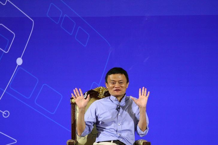 Founder and Executive Chairman of Alibaba Group Jack Ma gestures during the Conversation on Entrepreneurship and Inclusive Globalization at the Foreign Ministry in Bangkok, Thailand, October 11, 2016. REUTERS/Athit Perawongmetha