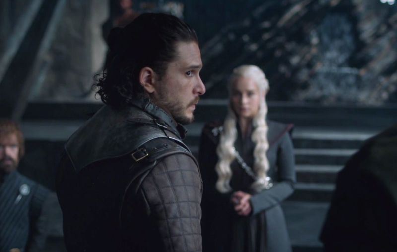"""We need to talk about the fact that Jon Snow is embarrassed to tell Dany he DIED on """"Game of Thrones"""""""