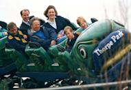 """<p>Princess Diana tried to raise her boys as normal as possible, which meant going to the amusement park in 1993. """"She made sure that they experienced things like going to the cinema, queuing up to buy a McDonald's, going to amusement parks, those sorts of things that were experiences that they could share with their friends,"""" Diana's former chief of staff, Patrick Jephson, told <a href=""""https://abcnews.go.com/International/rebel-royal-mum-dianas-legacy-parent/story?id=19241646"""" rel=""""nofollow noopener"""" target=""""_blank"""" data-ylk=""""slk:ABC News"""" class=""""link rapid-noclick-resp"""">ABC News</a>. </p>"""
