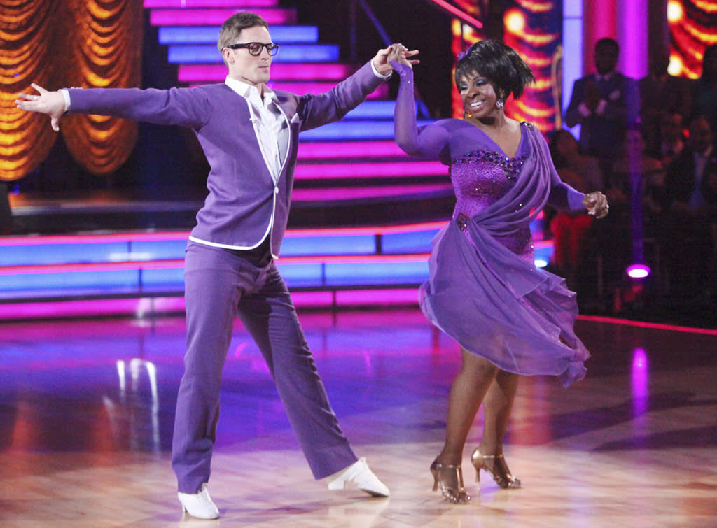 "Tristan MacManus and <a target=""_blank"" href=""http://tv.yahoo.com/gladys-knight/contributor/590990"">Gladys Knight</a> perform on ""<a target=""_blank"" href=""http://tv.yahoo.com/dancing-with-the-stars/show/38356"">Dancing With the Stars</a>."" (April 23, 2012)"