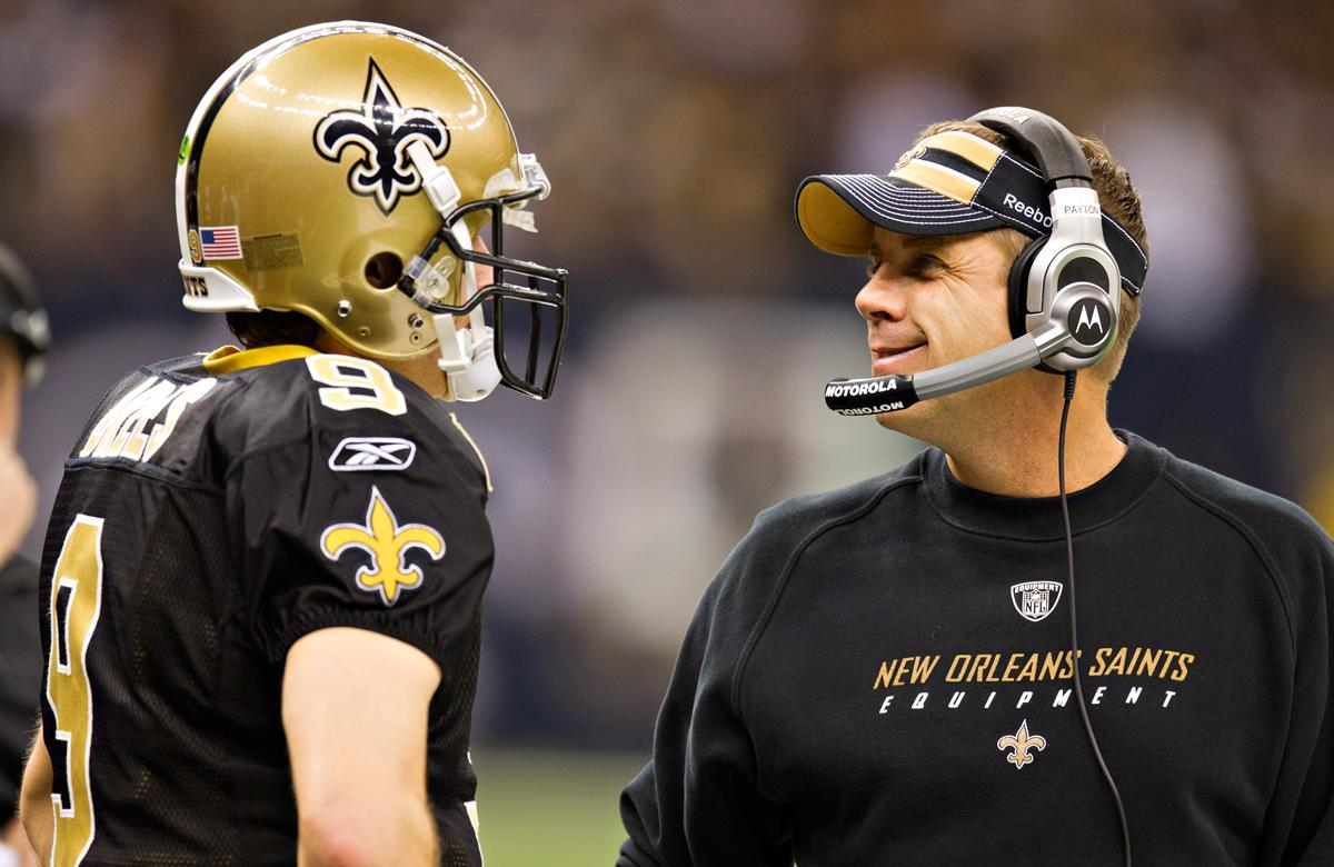 Sean Payton (pictured, right) and Gregg Williams were both suspended by the NFL after accusations that the New Orleans Saints instituted a bounty program to reward injuring opponents. (Wesley Hitt/Getty Images)