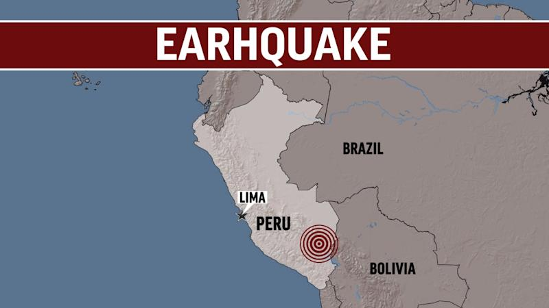 Magnitude 8 quake hits northern Peru