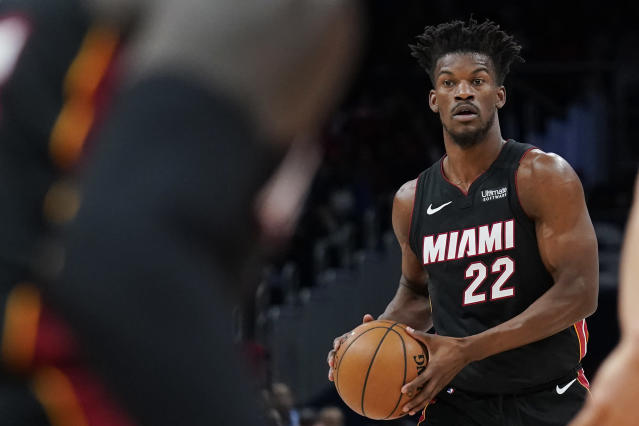 Miami Heat star Jimmy Butler remembers walking out of a Walmart at 16 and hearing a young boy call him the n-word. (Patrick McDermott/Getty Images)