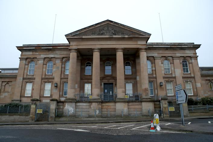 Dundee Sheriff Court as Simon Bowes-Lyon, the Earl of Strathmore, is due for sentencing for sexually assaulting a woman at his ancestral home in February 2020. Bowes-Lyon, 34, admitted to attacking a woman in a bedroom at Glamis Castle in Angus. Picture date: Tuesday February 23, 2021.