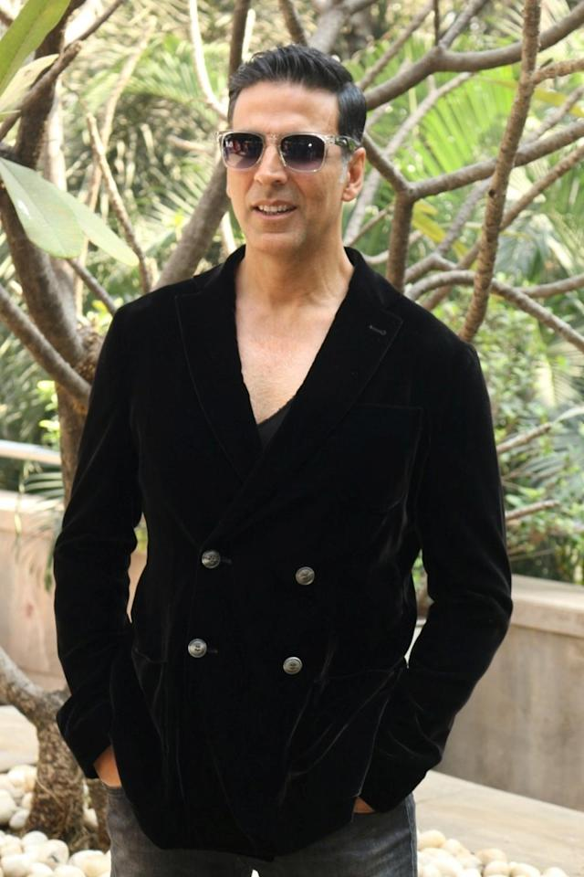 <p>Akshay Kumar during the media interaction of film Jolly LLB 2 in Mumbai. (Photo: IANS) </p>
