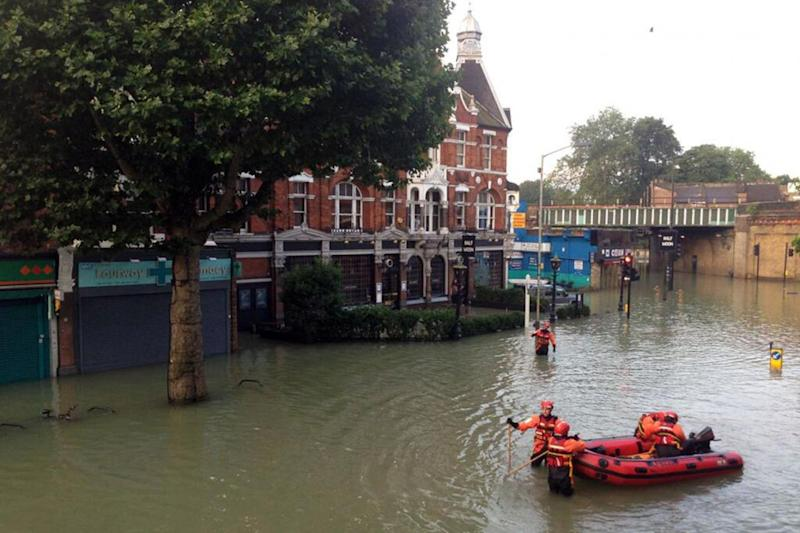 Half Moon: Historic pub was closed three years ago after it was badly hit with floods (Rex)