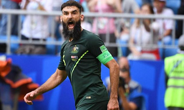 Australia's Mile Jedinak scored from the spot but the side could not seal their good performance against Denmark with a winning goal.