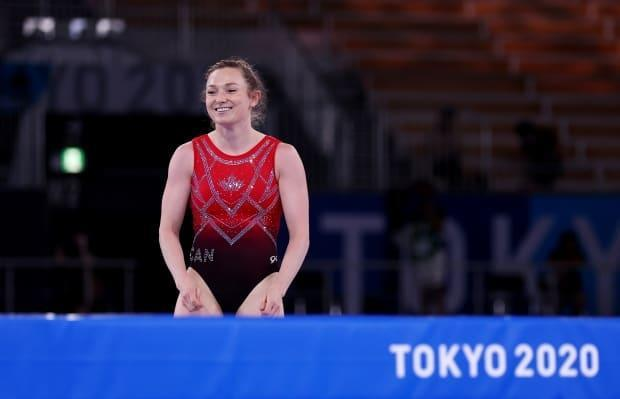 Rosie MacLennan of Canada finished fourth in the women's trampoline competition in Japan.  (Mike Blake/Reuters - image credit)