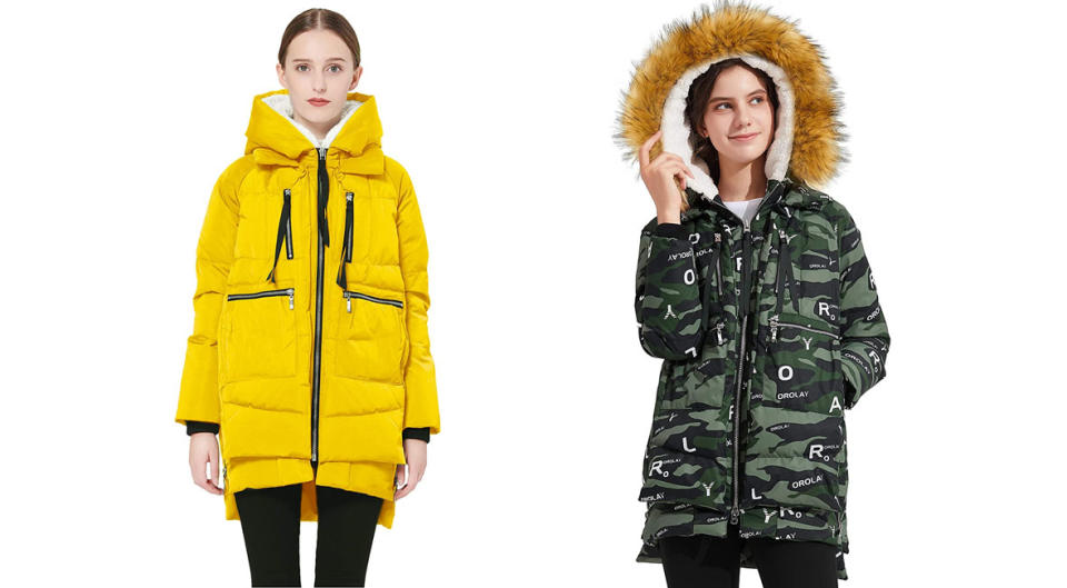 It's made of 90 percent duck down and 10 percent feathers—and some styles come with a faux fur-lined hood! (Photo: Amazon)