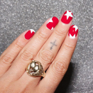"""<p>Nothing says the 4th of July like being loud and proud, so make your nails pop by adding large white stars over a bright red mani. </p><p><a class=""""link rapid-noclick-resp"""" href=""""https://www.amazon.com/Whats-Up-Nails-Northern-Christmas/dp/B076V3RP1F/?tag=syn-yahoo-20&ascsubtag=%5Bartid%7C10055.g.1278%5Bsrc%7Cyahoo-us"""" rel=""""nofollow noopener"""" target=""""_blank"""" data-ylk=""""slk:SHOP STAR STENCILS"""">SHOP STAR STENCILS</a> </p>"""