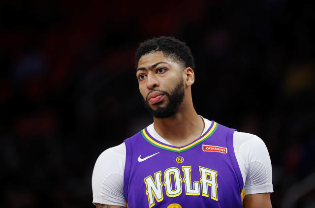"<a class=""link rapid-noclick-resp"" href=""/nba/players/5007/"" data-ylk=""slk:Anthony Davis"">Anthony Davis</a> has been to the playoffs once in six seasons with the Pelicans. (AP)"
