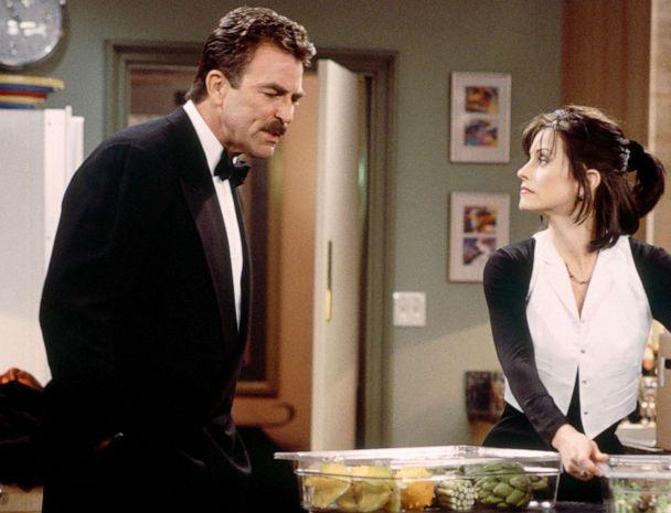 PHOTO: Tom Selleck as Dr. Richard Burke and Courteney Cox as Monica Geller on 'Friends.' (NBC via Getty Images)