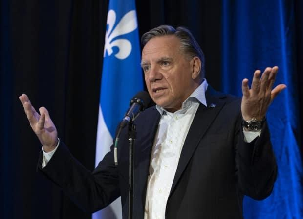 Quebec Premier François Legault levied heavy criticism against the federal Liberal Party, the NDP and the Green Party during a news conference on Thursday.  (Jacques Boissinot/The Canadian Press - image credit)