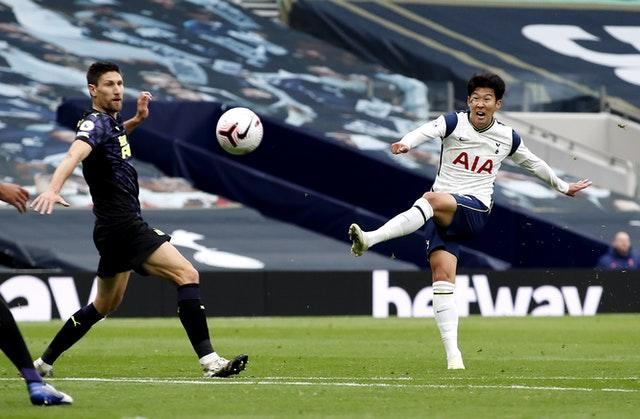Son Heung-min hit the post and crossbar against Newcastle before being replaced at half-time with a hamstring injury.
