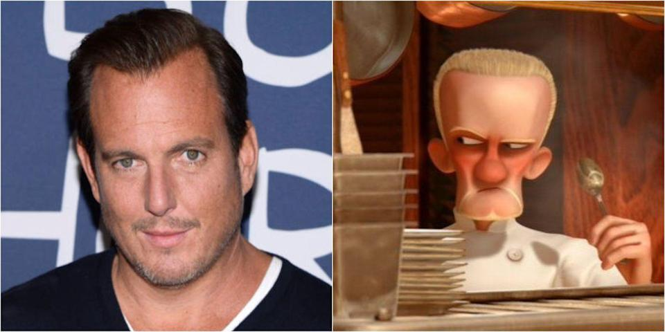 <p>Remember that borderline scary German sous-chef after Skinner, aka the second guy in charge of the kitchen, in <em>Ratatouille</em> who may or may not have done something illegal before working at Gusteau's? Well, he was voiced by Will Arnett.</p>