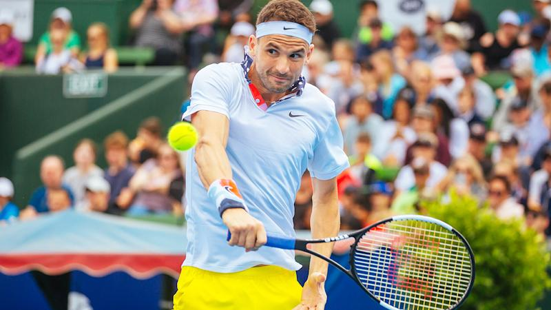 Grigor Dimitrov, pictured here at the Kooying Classic.