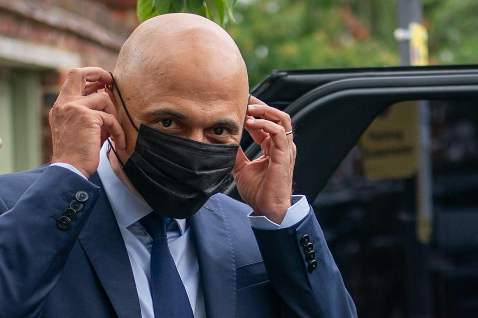 Sajid Javid, outside his home in south west London, after he was appointed as Secretary of State for Health and Social Care (Aaron Chown/PA) (PA Wire)