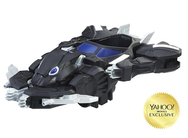 <p>The Panther Jet is perhaps the most intriguing of the new toys, introducing a morphing vehicle that borrows a page from Batman's playbook. (Photo: Hasbro) </p>