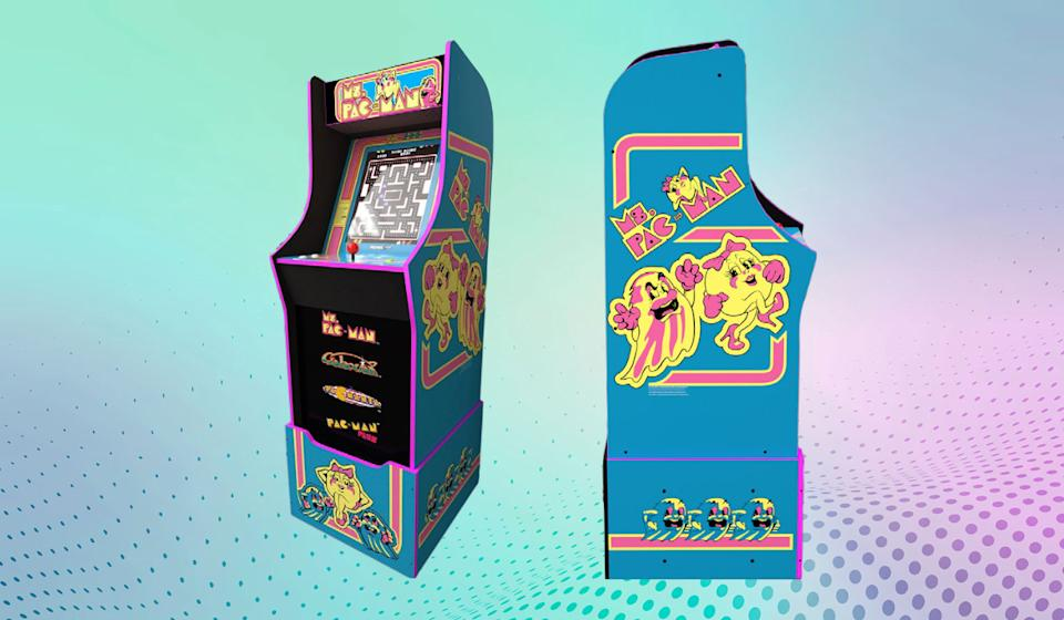 Relive the glory days of Pac-Man fever, right in your own game room. No quarters required! (You will need some dollars, though.) (Photo: Arcade1Up)