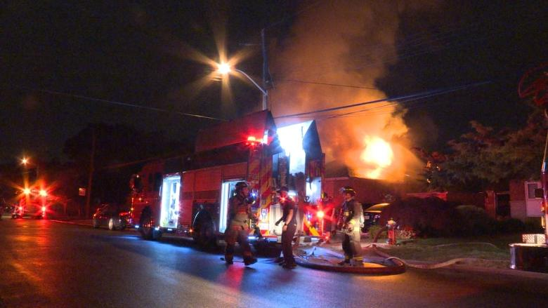 5 escape unharmed from fire that engulfs North York home