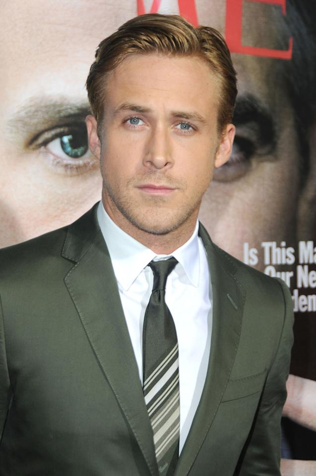 "Ryan Gosling arrives at the Los Angeles premiere of ""The Ides Of March"" in Beverly Hills, California."
