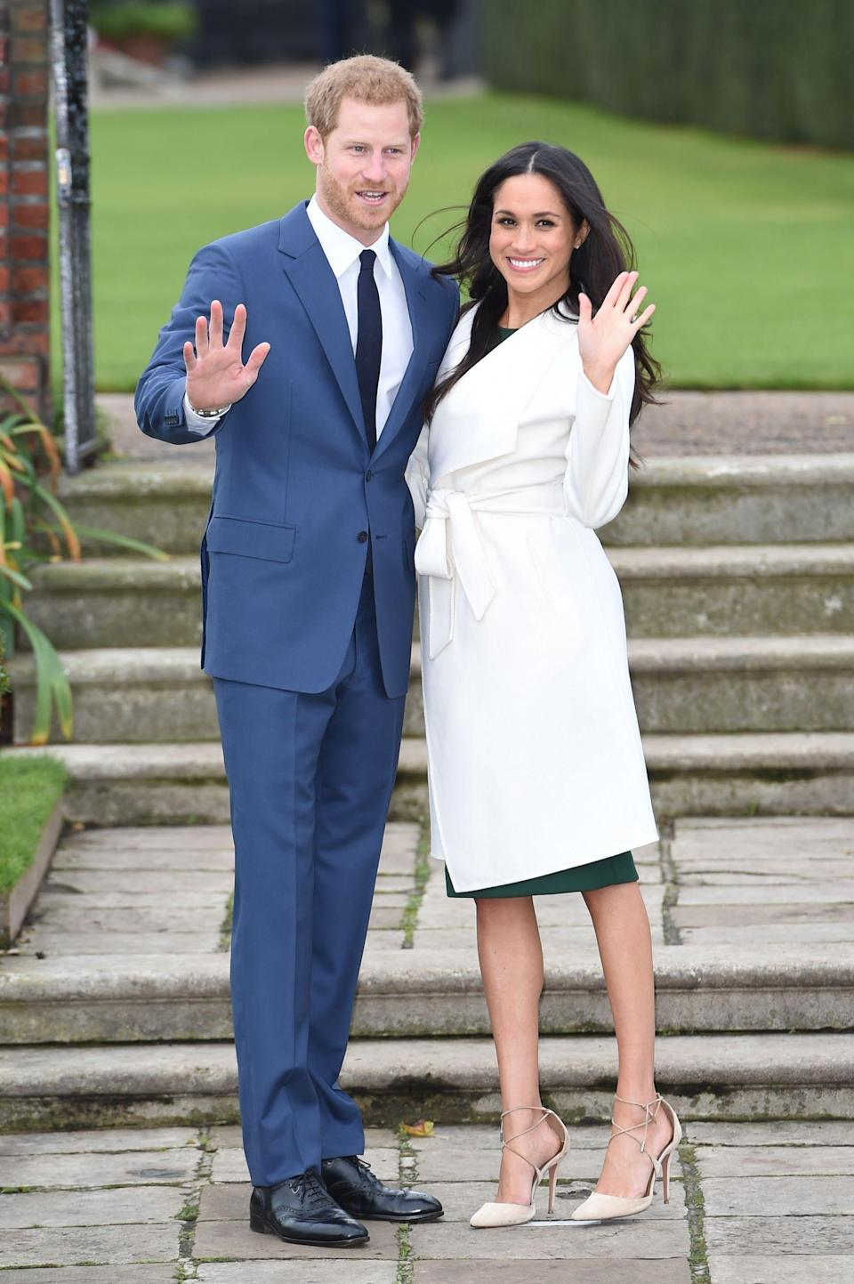 Meghan Markle wears Line The Label for the official royal engagement photos.