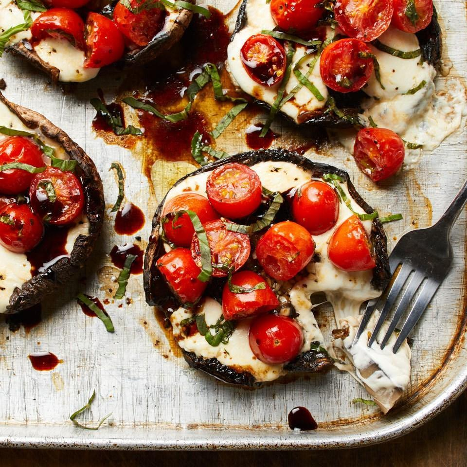 <p>We've taken the key ingredients of the popular caprese salad--tomatoes, fresh mozzarella and basil--and piled them into portobello mushroom caps to make a delicious and satisfying vegetarian main dish.</p>