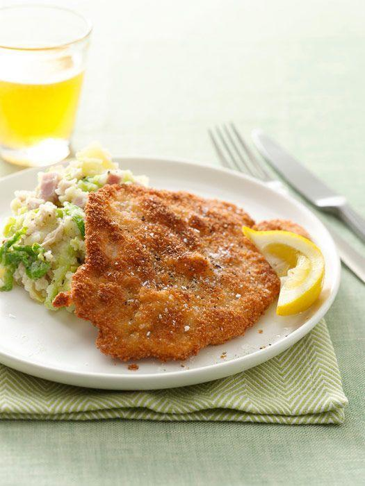 """<p>This creamy cabbage, ham, and Yukon potato mash pairs well with crispy pork cutlets — and just about everything else. </p><p><em><a href=""""https://www.goodhousekeeping.com/food-recipes/a9678/crispy-pork-cutlets-cabbage-ham-recipe/"""" rel=""""nofollow noopener"""" target=""""_blank"""" data-ylk=""""slk:Get the recipe for Crispy Pork Cutlets with Cabbage-Ham Mash »"""" class=""""link rapid-noclick-resp"""">Get the recipe for Crispy Pork Cutlets with Cabbage-Ham Mash »</a></em></p>"""