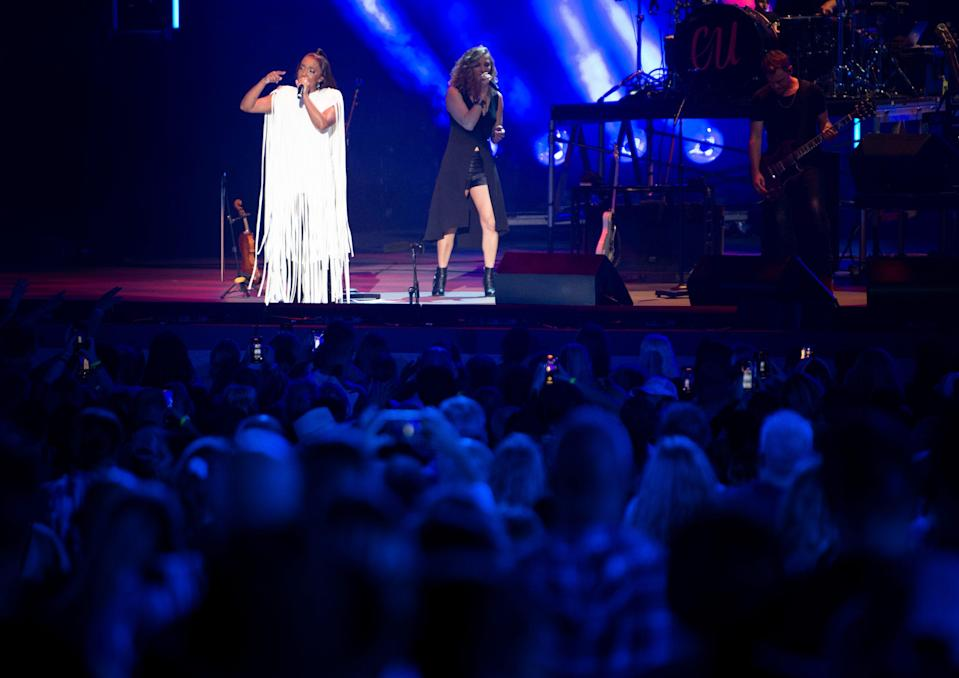 Mickey Guyton performs during the CMA Summer Jam concert at Ascend Amphitheater in Nashville, Tenn., on July 27.