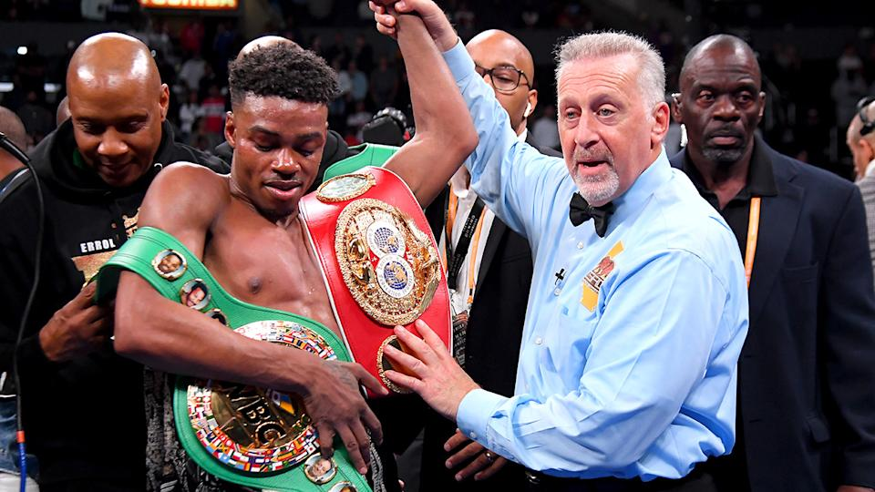 Errol Spence Jr, pictured here after his win over Shawn Porter.