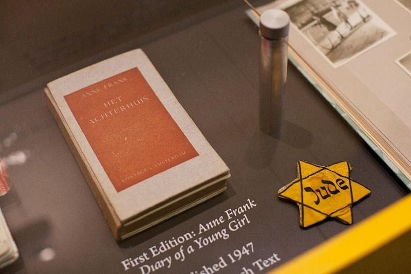 """A French academic and MP claim """"Diary of a Young Girl"""" by Anne Frank became public property on January 1 as 70 years had elapsed since Frank's death at the age of 15 in the Bergen-Belsen concentration camp in 1945 (AFP Photo/Andrew Burton)"""