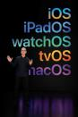 Apple CEO Tim Cook speaks during Apple's Worldwide Developers Conference