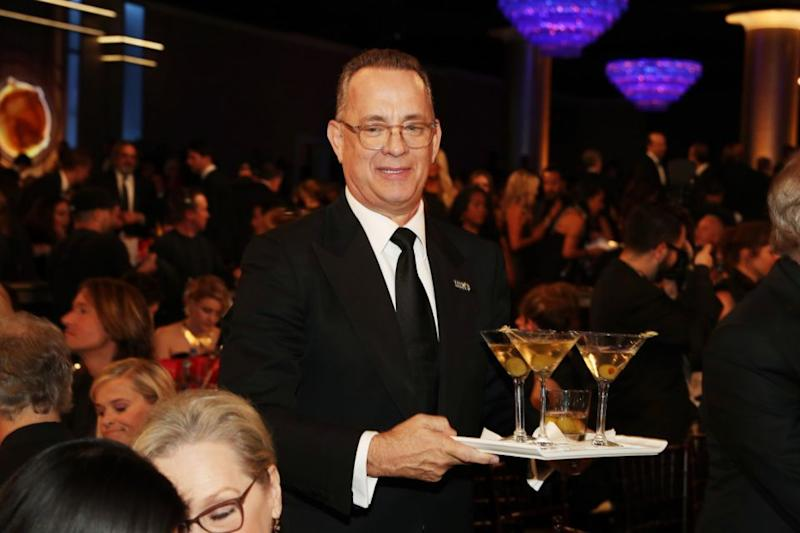 Actor Tom Hanks celebrates The 75th Annual Golden Globe Awards with Moet & Chandon at The Beverly Hilton Hotel on January 7, 2018 in Beverly Hills. Source: Getty